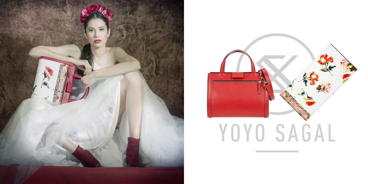 YOYO Sagal -> Red Bag + Red Rose White